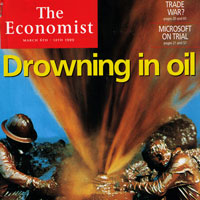 1999 cover story in The Economist predicts a drop from $10/oil to $5/oil