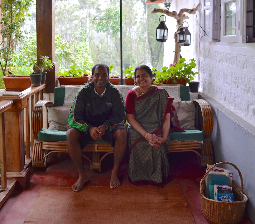 The gracious hosts - Sandeep and his mom.