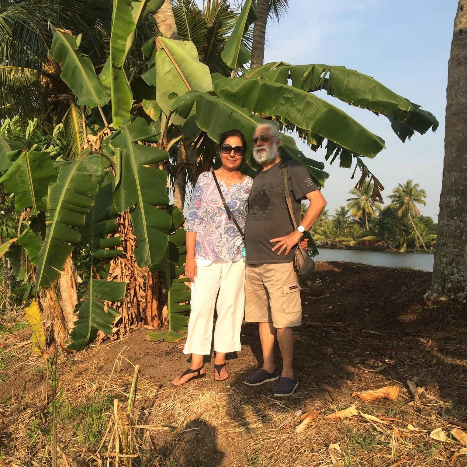 Suksham and Davinder enjoying themselves in Allepey, Kerala