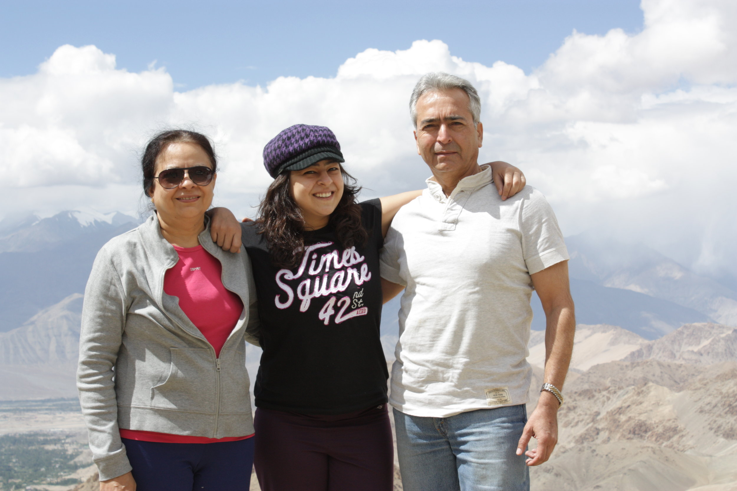 Arushi and her parents shining bright in Ladakh :)
