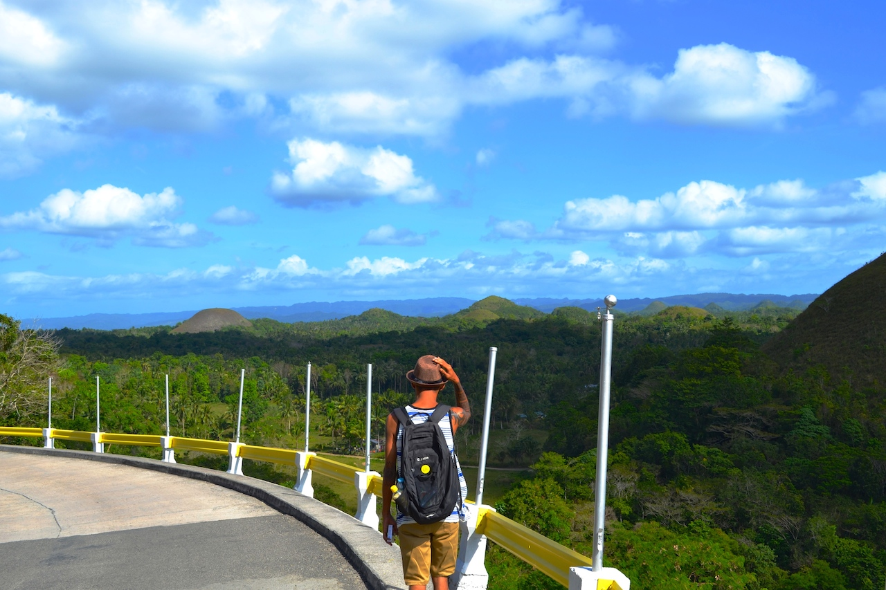 My favourite partner in crime walking along the Chocolate Hills :)