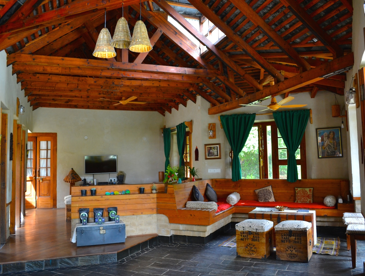 The lounge for guests to relax, read, hang-out.