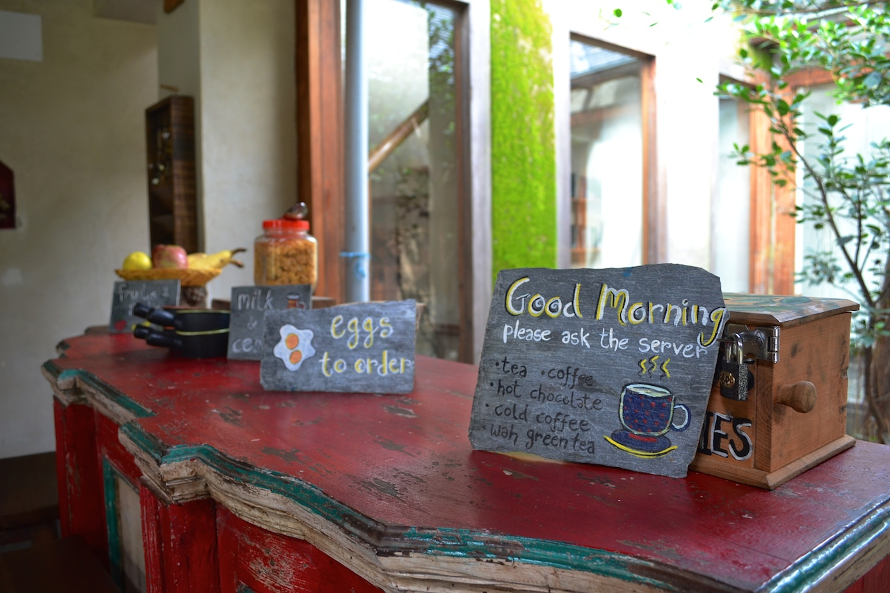 Breakfast Menu served with love and art!