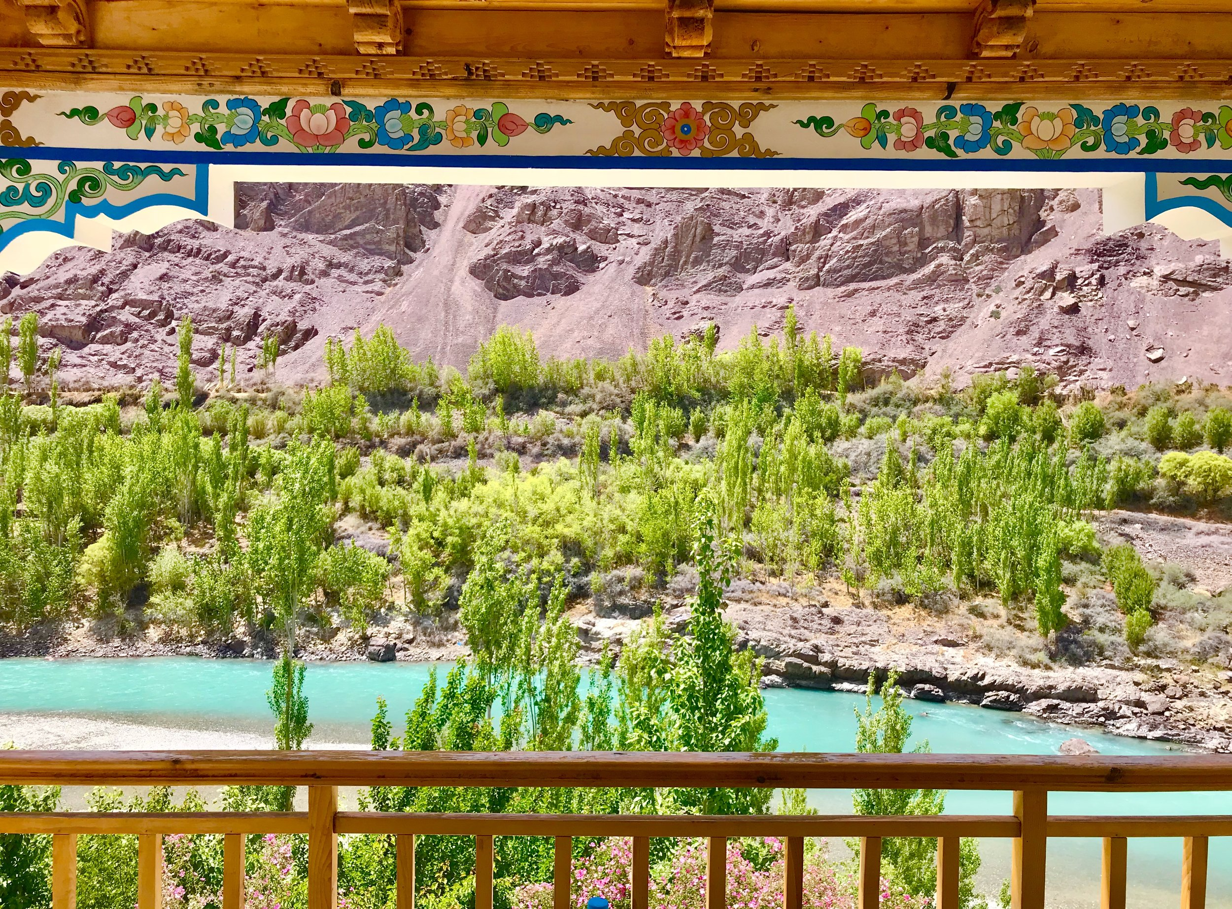 Raakhee's view from her balcony at Nurla, Ladakh