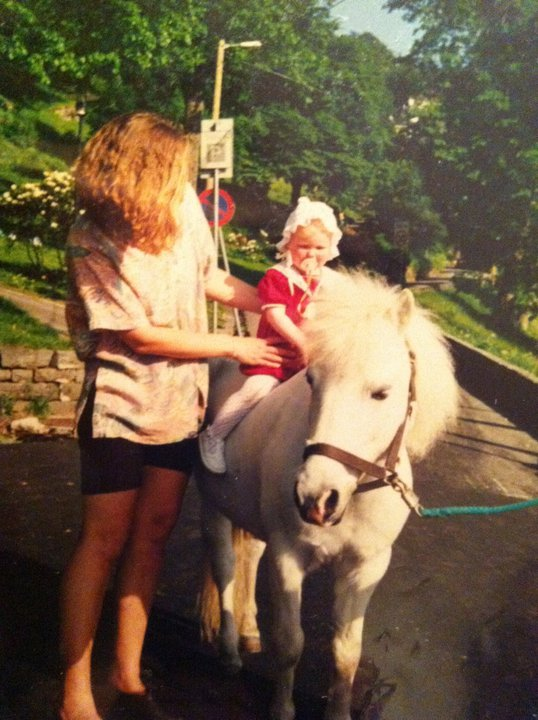 First time on a real horse