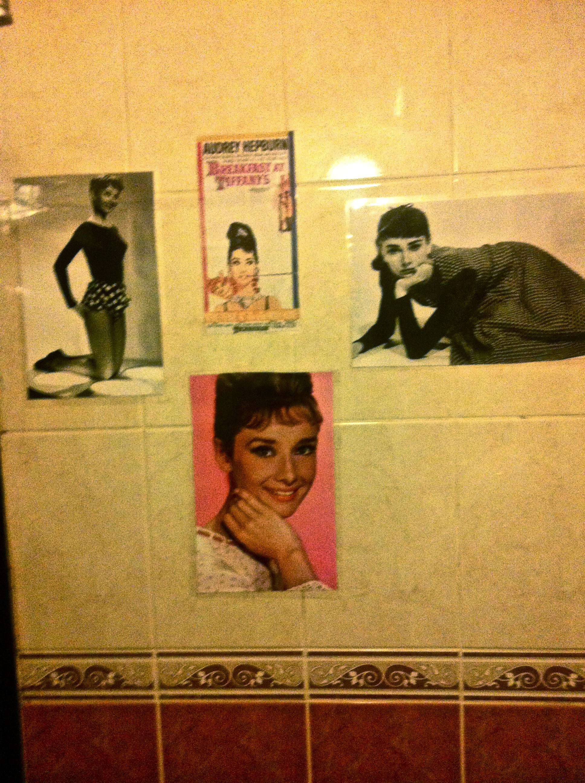 Best bathroom decoration in a bar:)