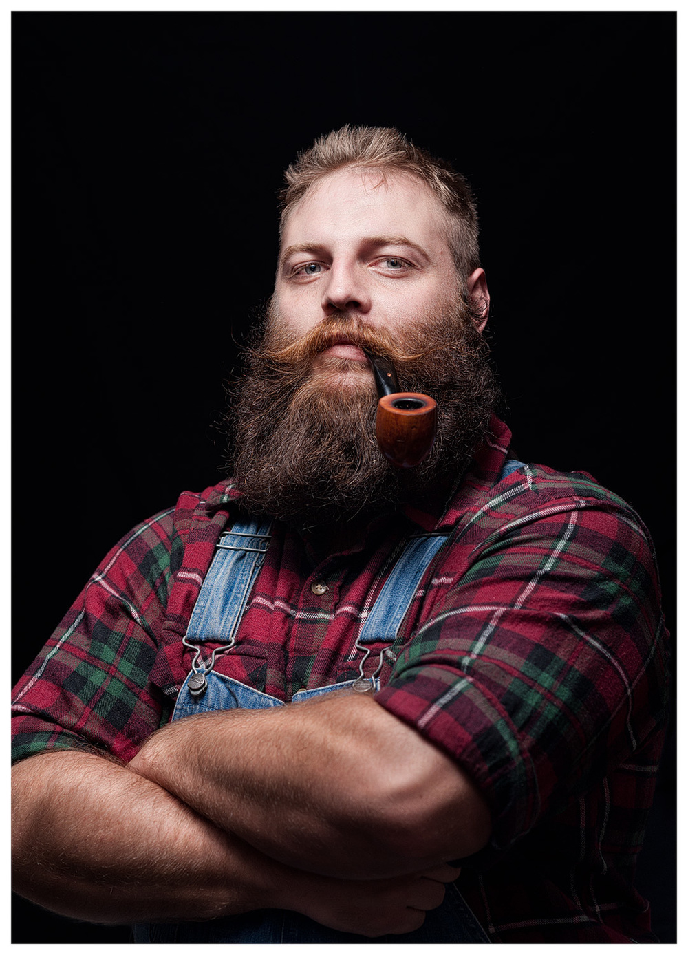 """The first person I approached for what would be the start of """"Dudes with Beards"""" and second dude I photographed."""