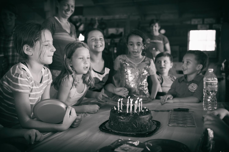 The magic moment- the birthday wish!