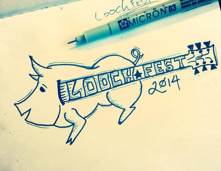 The beginning, Loochfest logo in my sketchbook