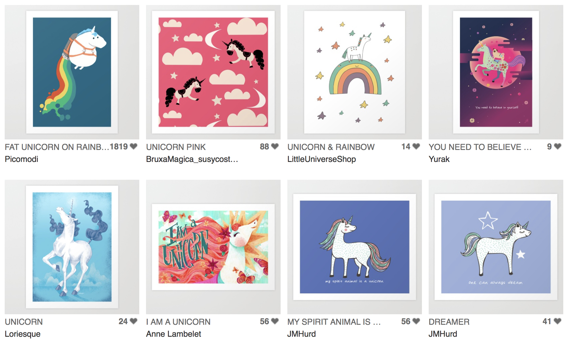 Click to view these pieces and the rest of the Magical Unicorns collection