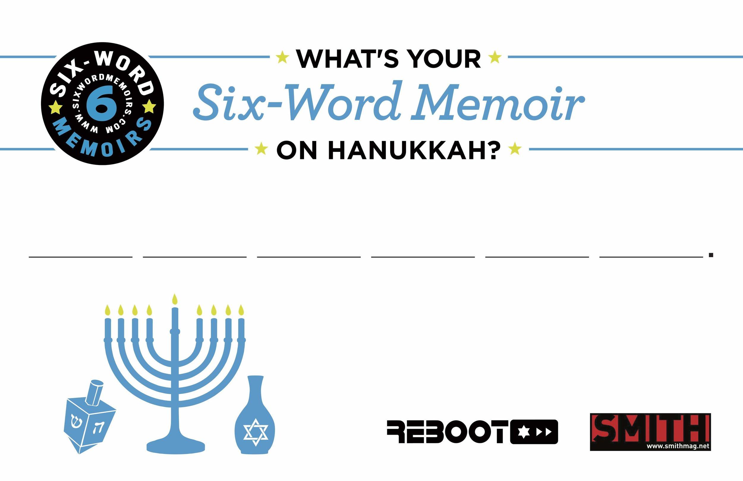 Six Word Postcard on Hanukkah.jpg