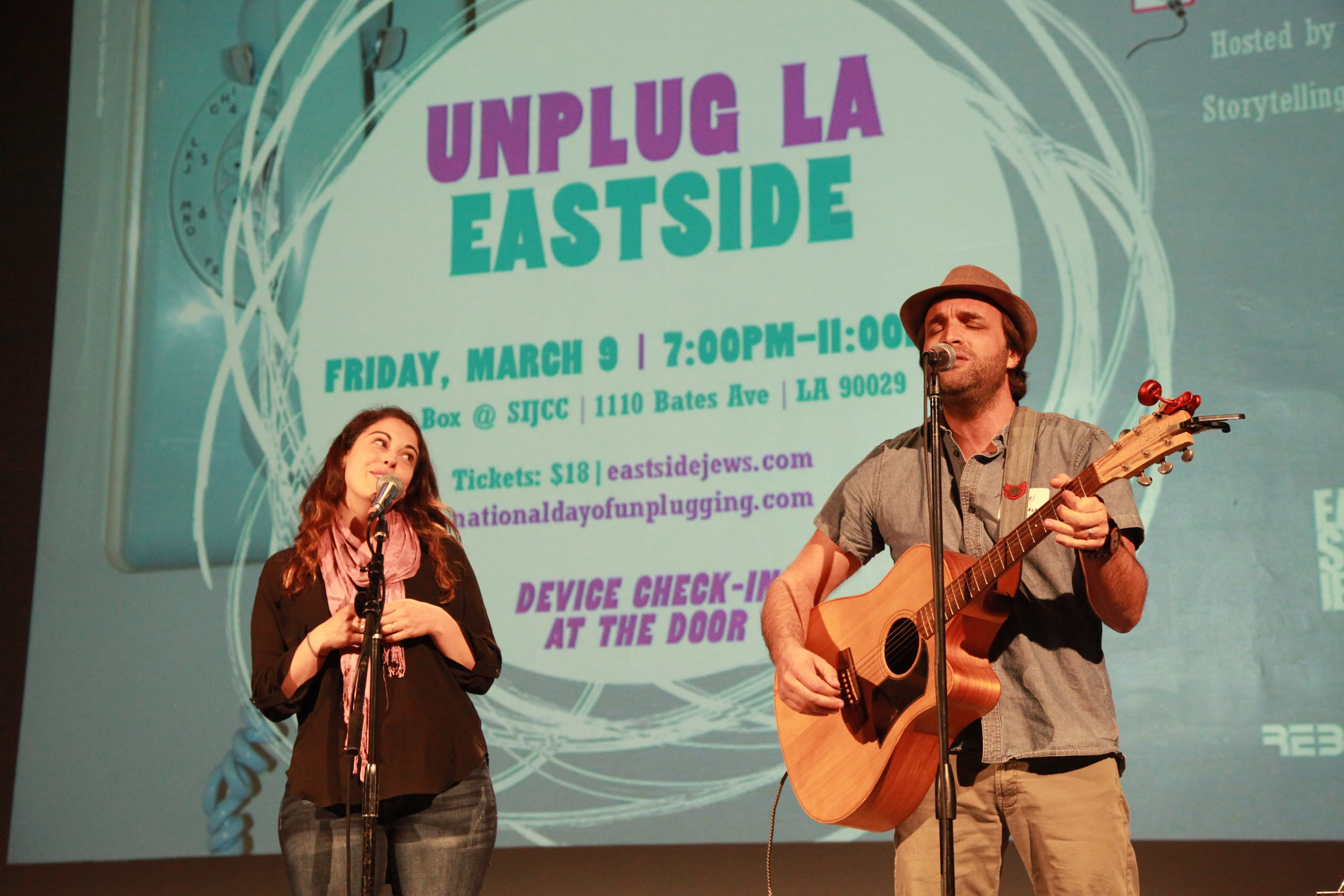 Performers at the Unplug LA Eastside event.