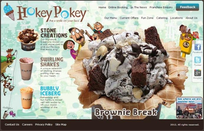 Figure 1. Social Media used by Hokey Pokey