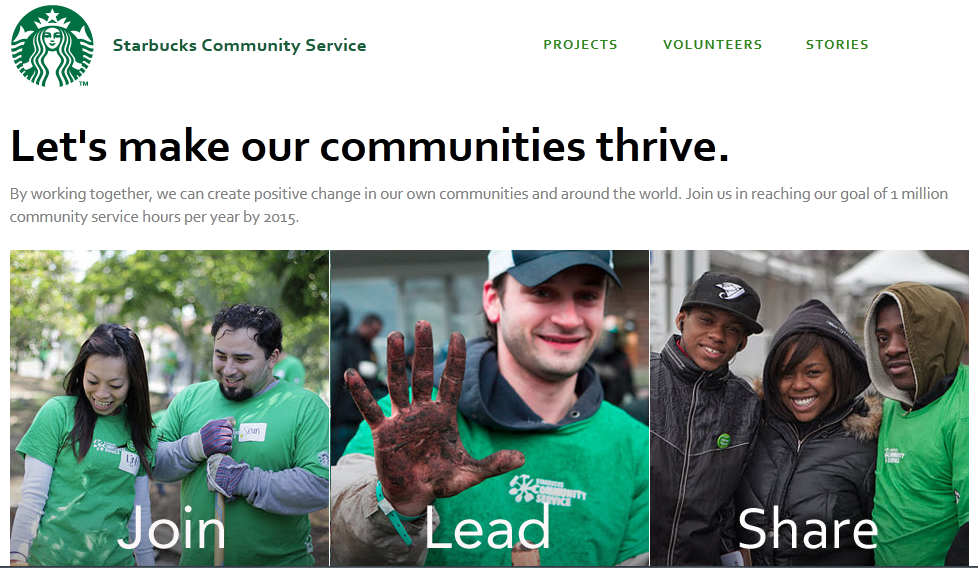 Figure 3: Startbucks Community Main Page (community.starbucks.com, 2015)