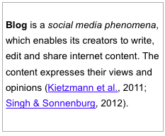 Blogs, Bloggers, Blogging: The role and the power of blogs