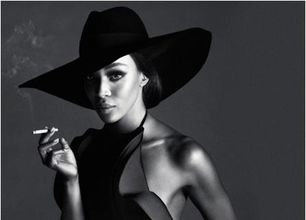 British super model Naomi Campbell