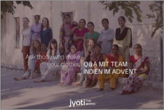 "Image 3: ""Ask those who made your clothes. Q & A with the Jyoti Team"", source: Jyoti – Fair works"