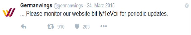 Source: Twitter #Germanwings (2015)