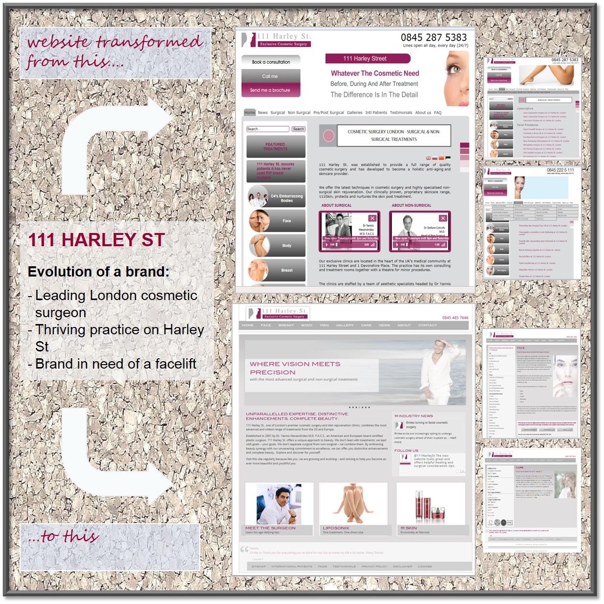 111 Harley Street Website Transformation