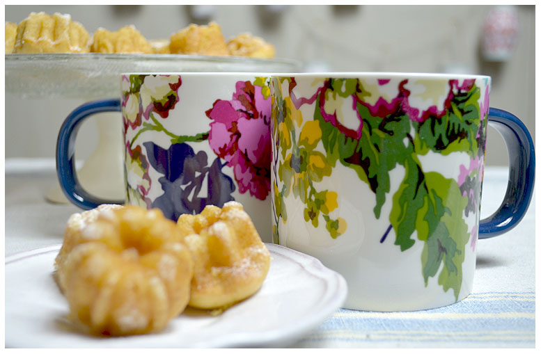 Tea for two with flowery mugs from Joules.jpg