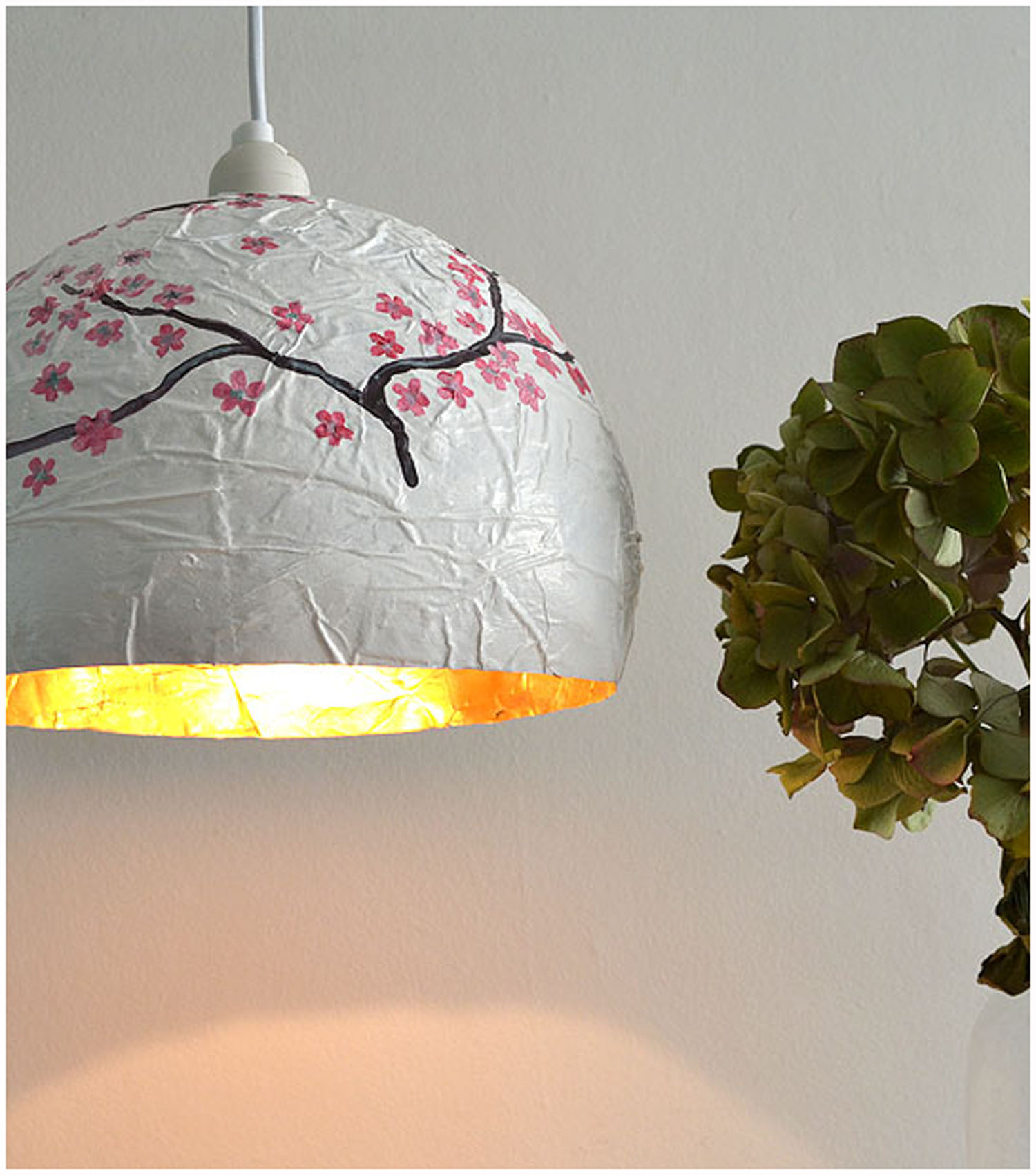 Japanese style paper maché lampshade.jpg