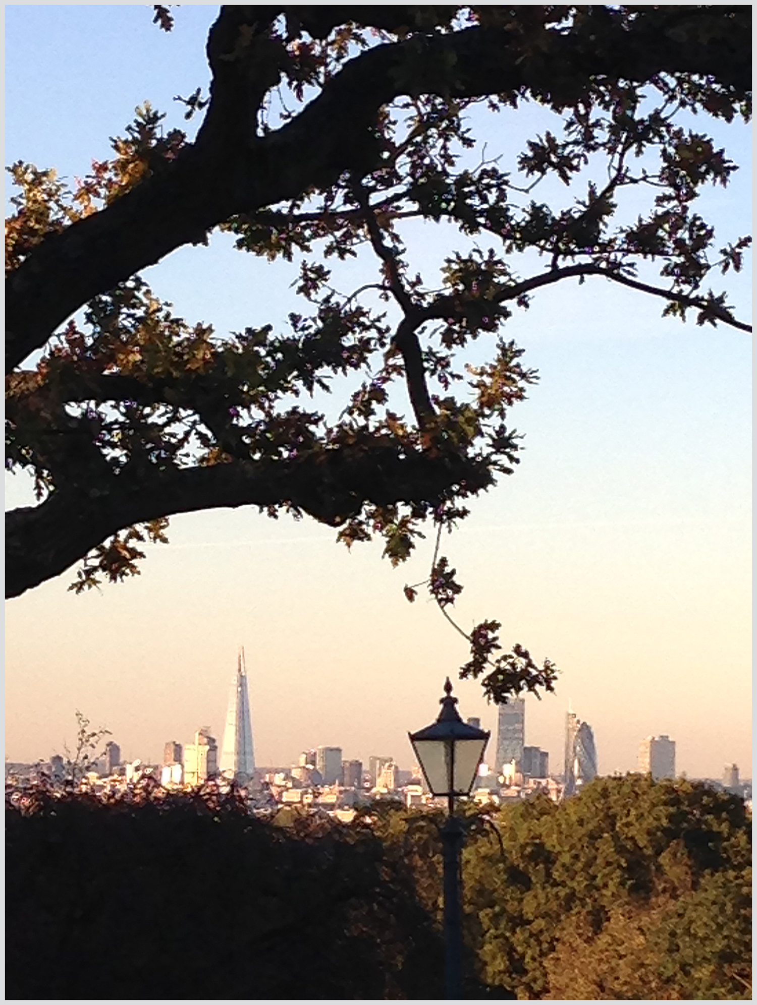 Late Afternoon Sunshine over London