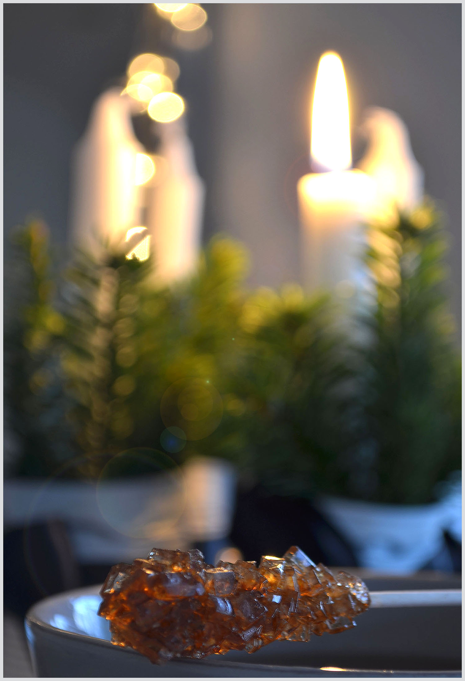 Crystallised Sugar and Advent Candles