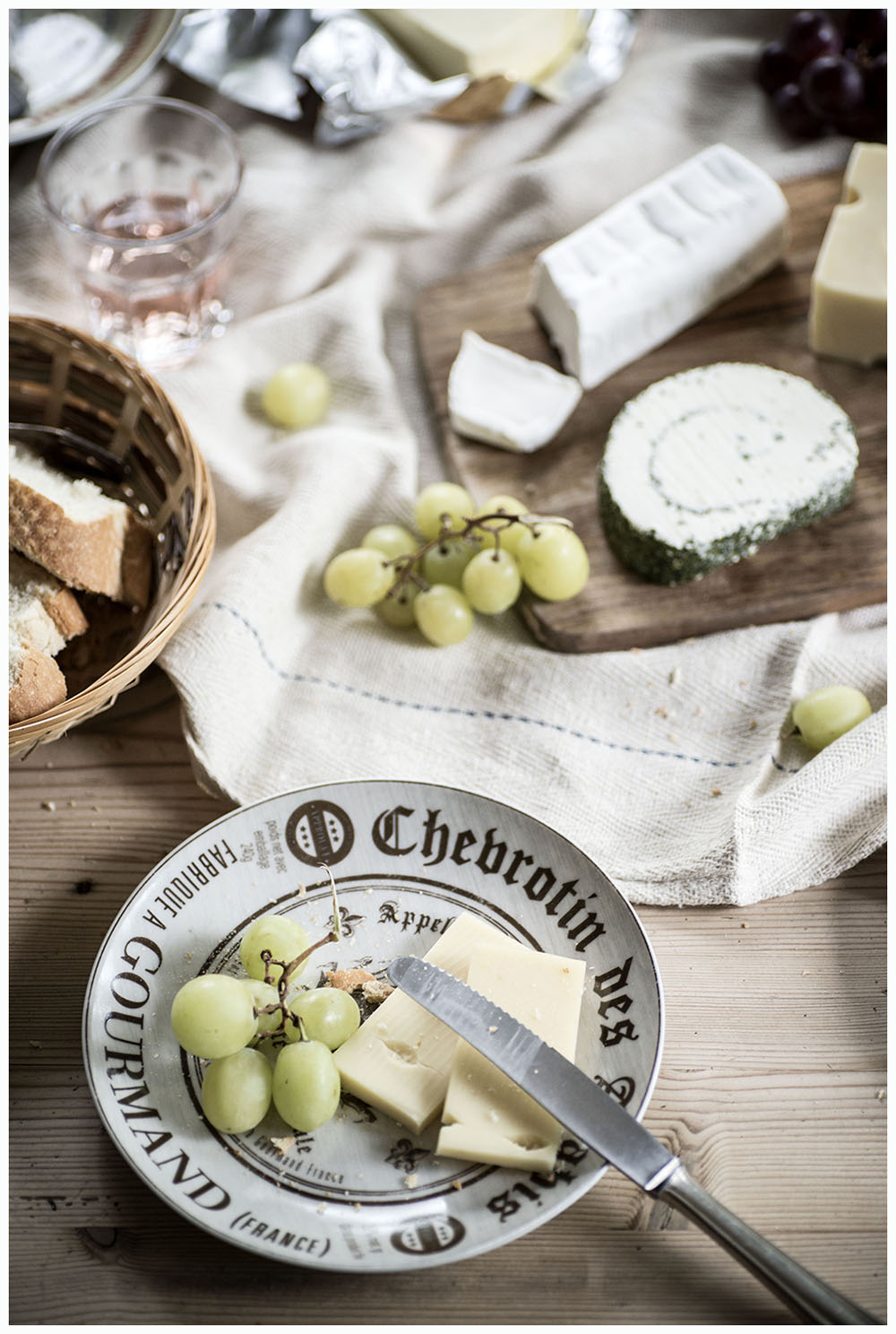 Cheese, Wine & Baguette