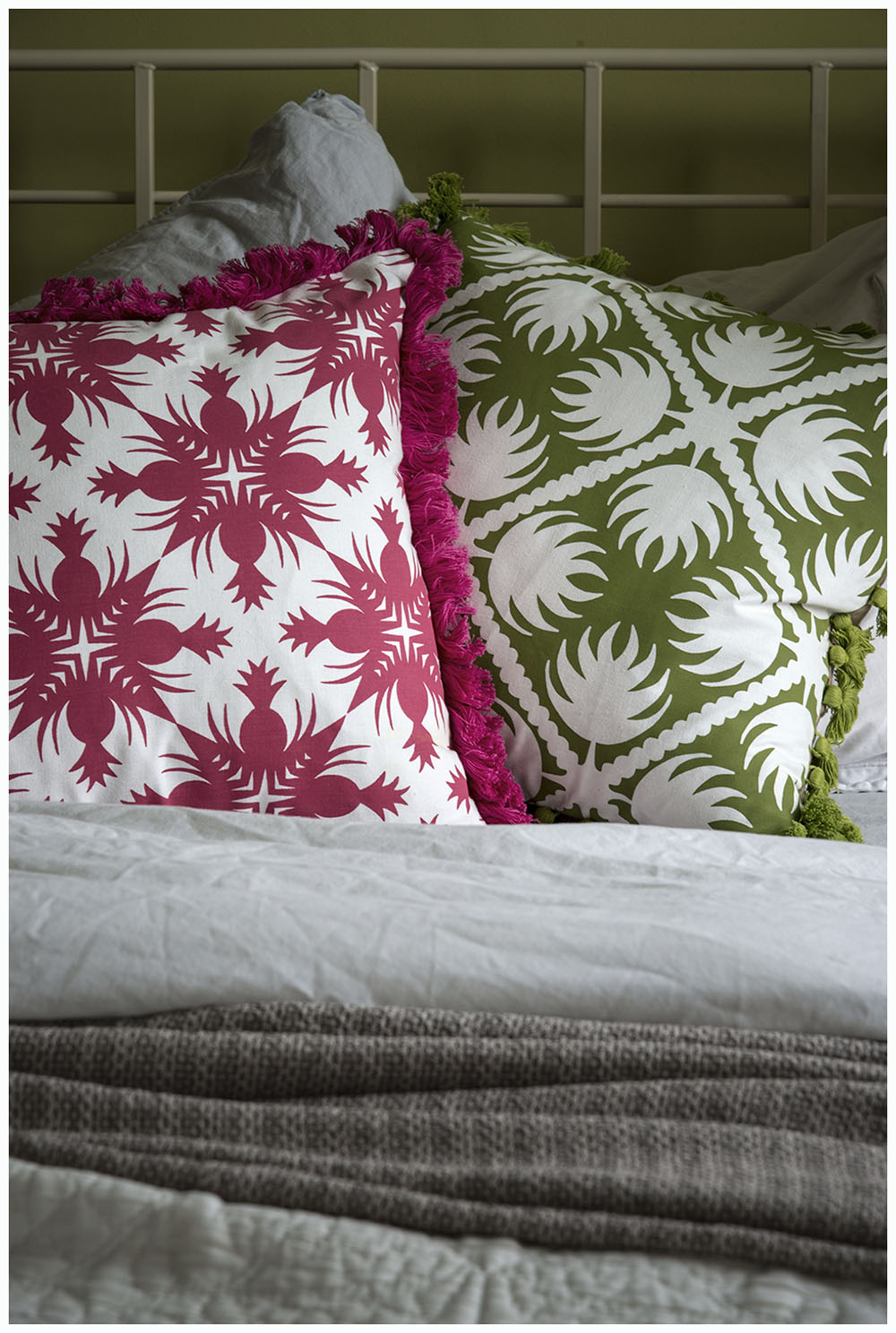 Styling cushions for Bianca Hall