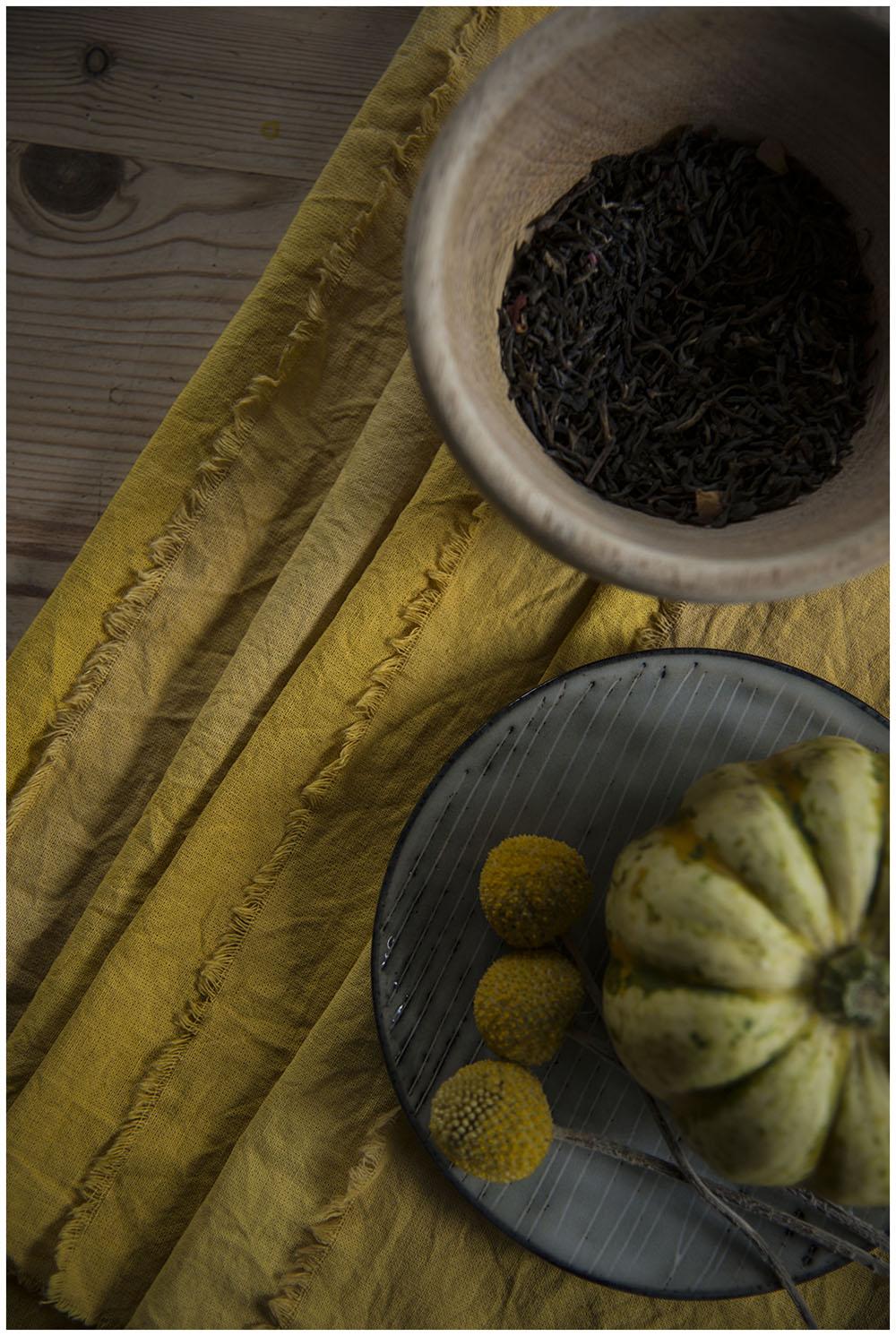 Turmeric and tea dyed napkins