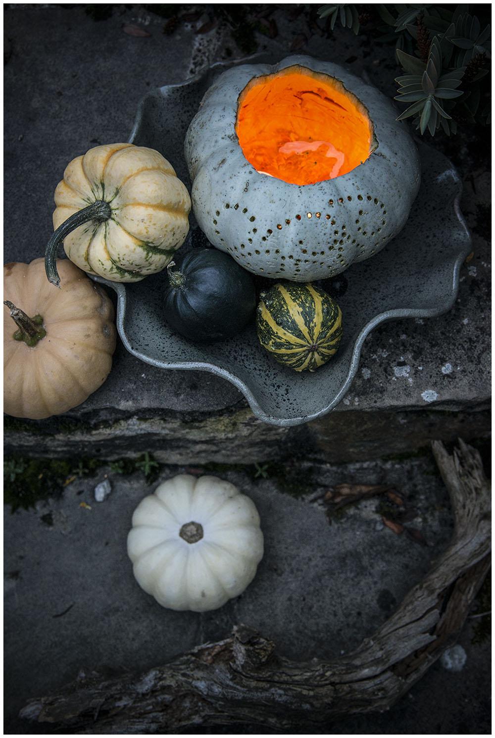"Autumnal ""carved"" pumpkin"