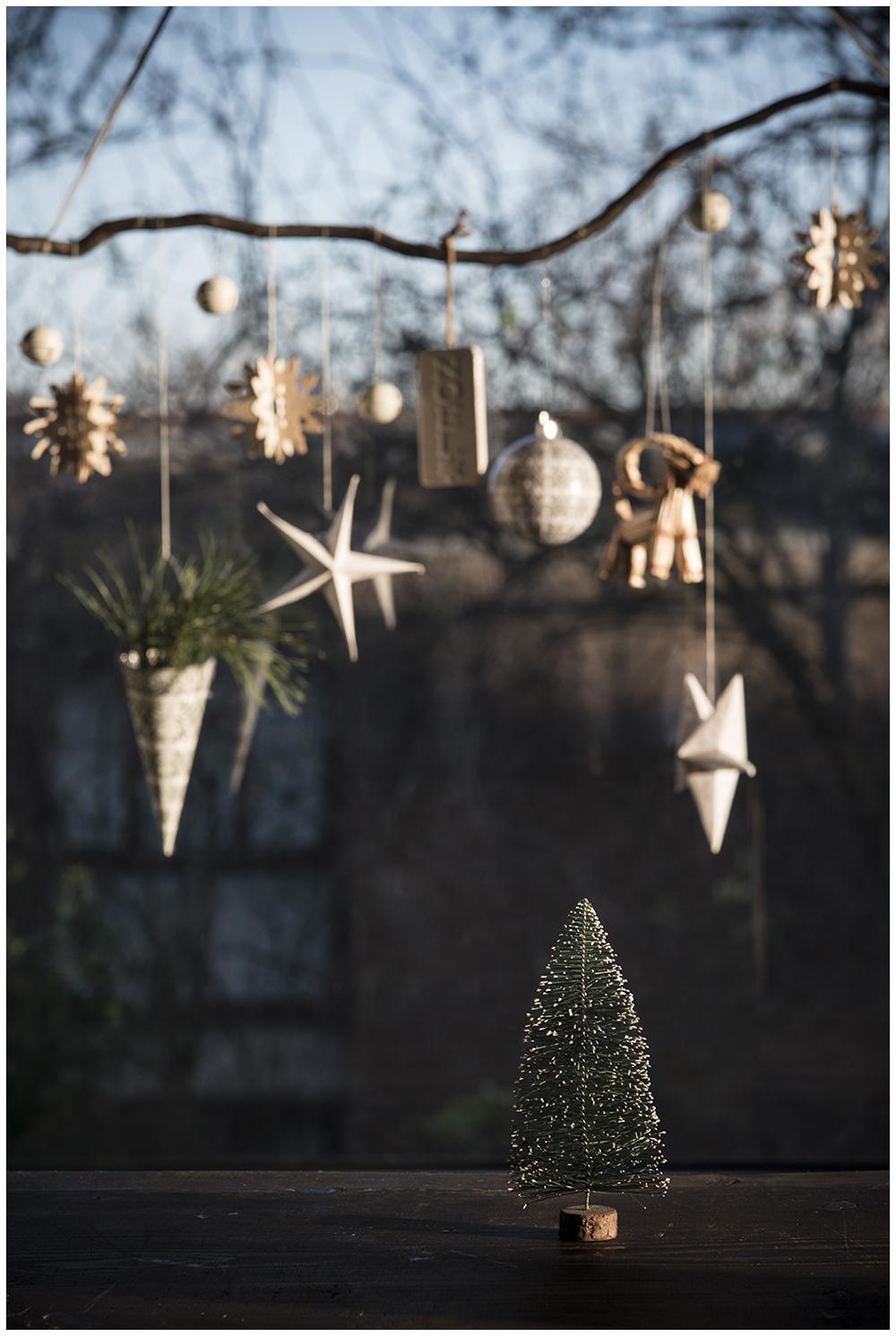 Christmas decorations and winter sunshine