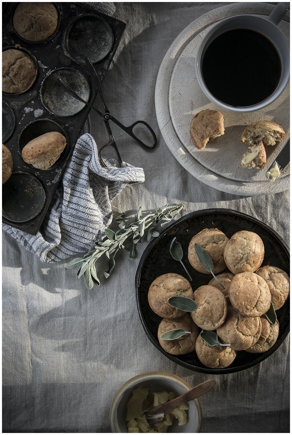 Brown Butter, Sage & Parmesan Mini Buns