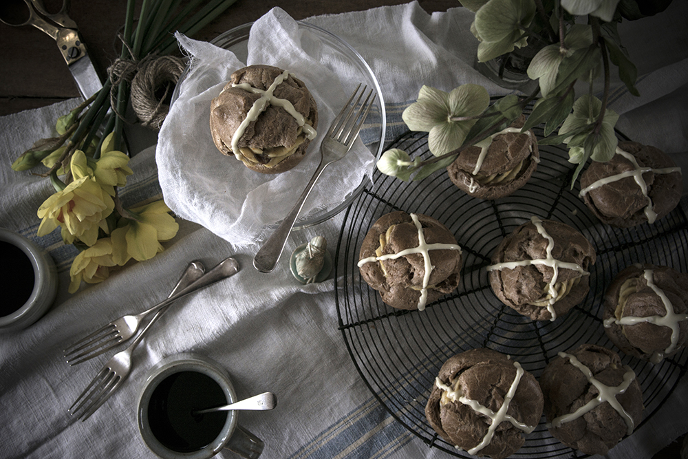 Hot Cross Choux Buns