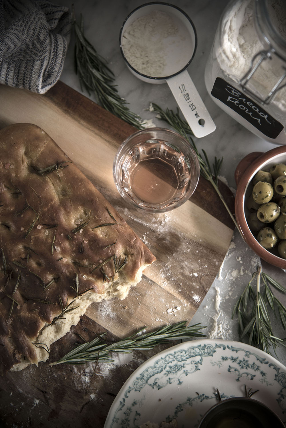 olive oil and rosemary bread