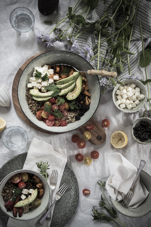grain and veg bowl