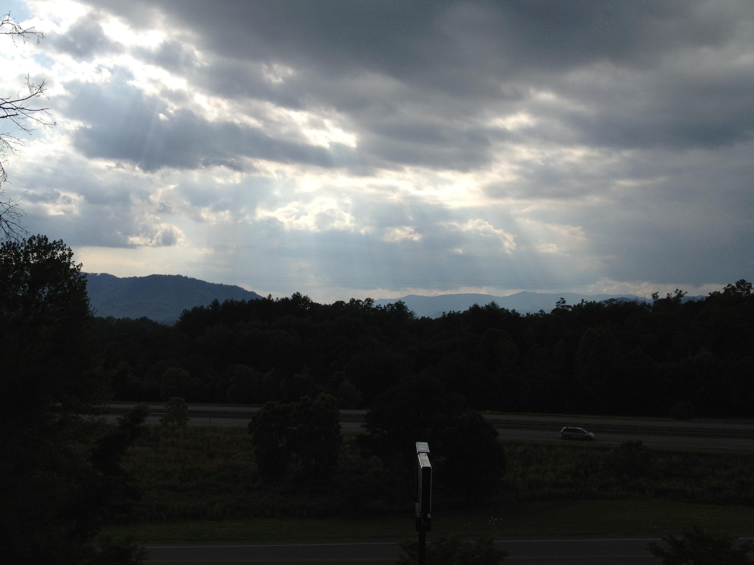 View from the Sleep Inn Bryson City, NC