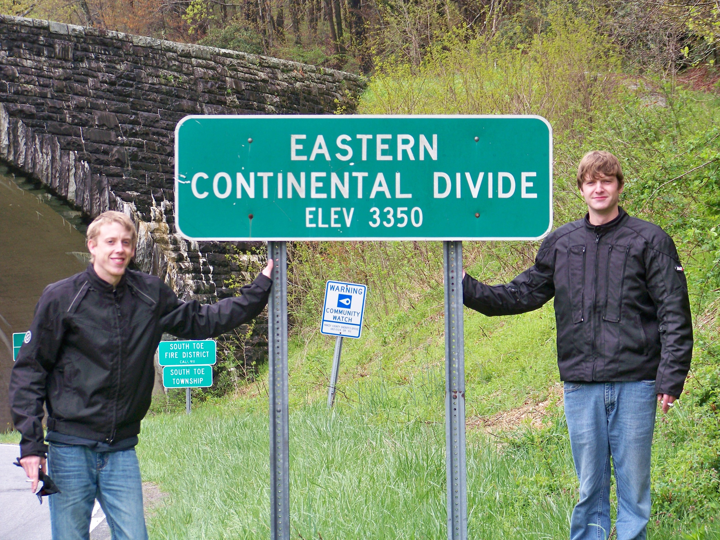 Jimmy and David at the Eastern Continental Divide