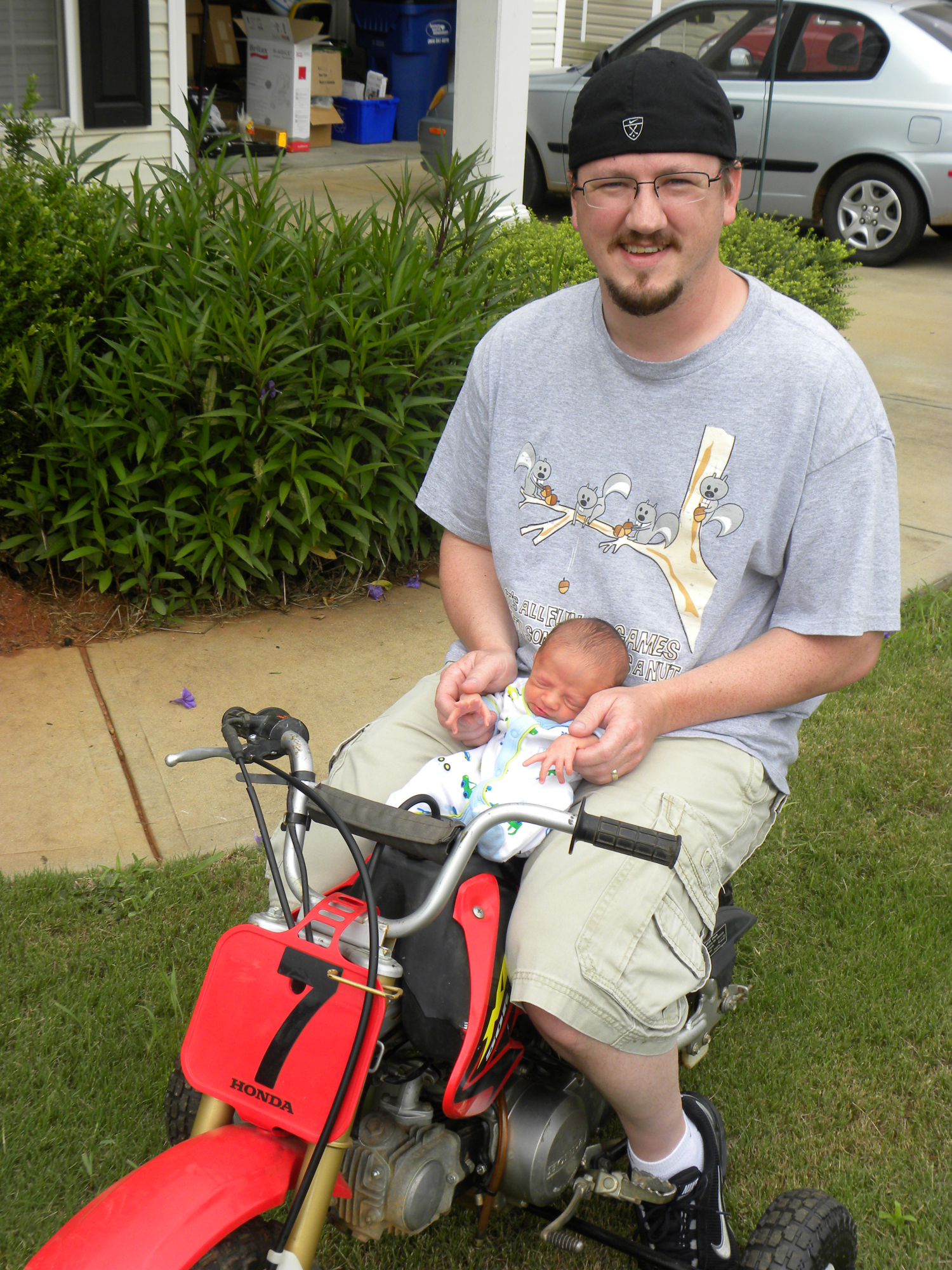 Me and Jaxon on his new dirt bike