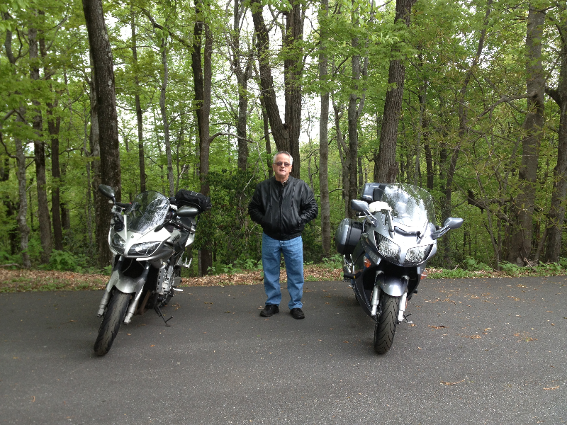 My Dad and I on a motorcycle ride.