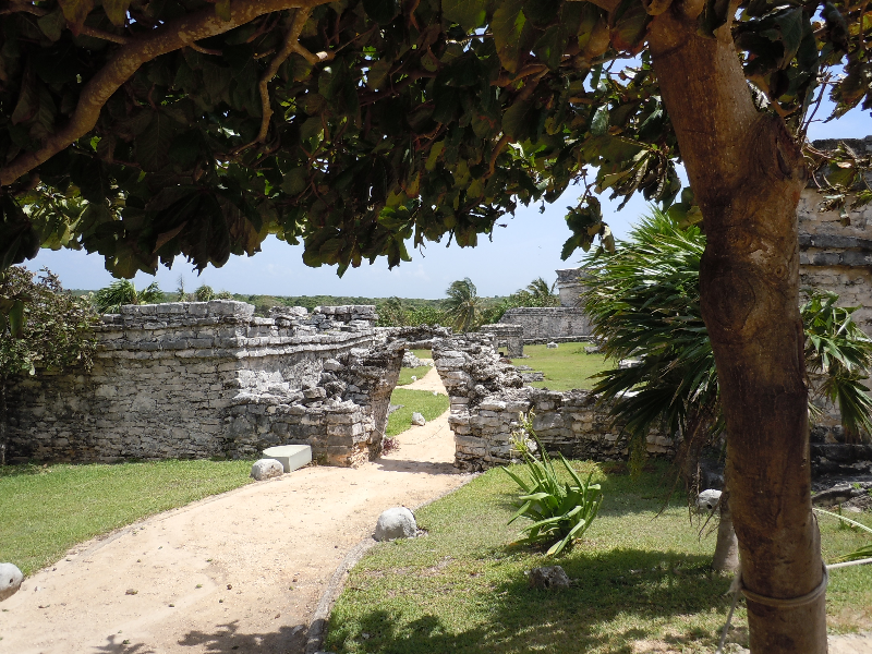 The back gate at Tulum