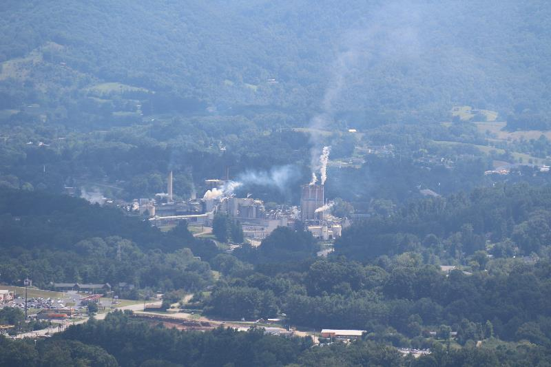 The paper mill in Canton, NC