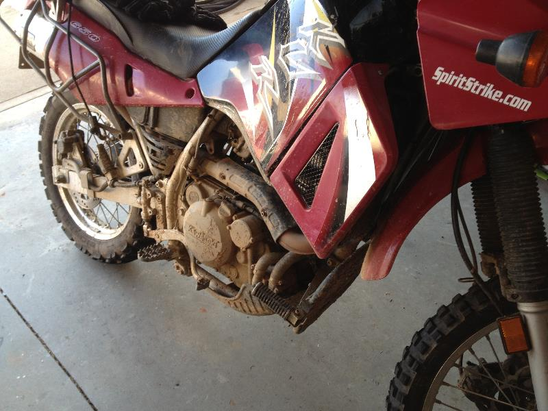 Good ride means a filthy bike!