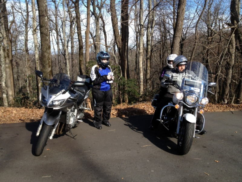 My niece riding pillion with my buddy Jeff and his wife.