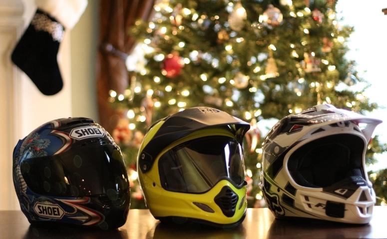 Current Helmet Collection. Shoei X-Eleven, Arai XD4, Fox V1