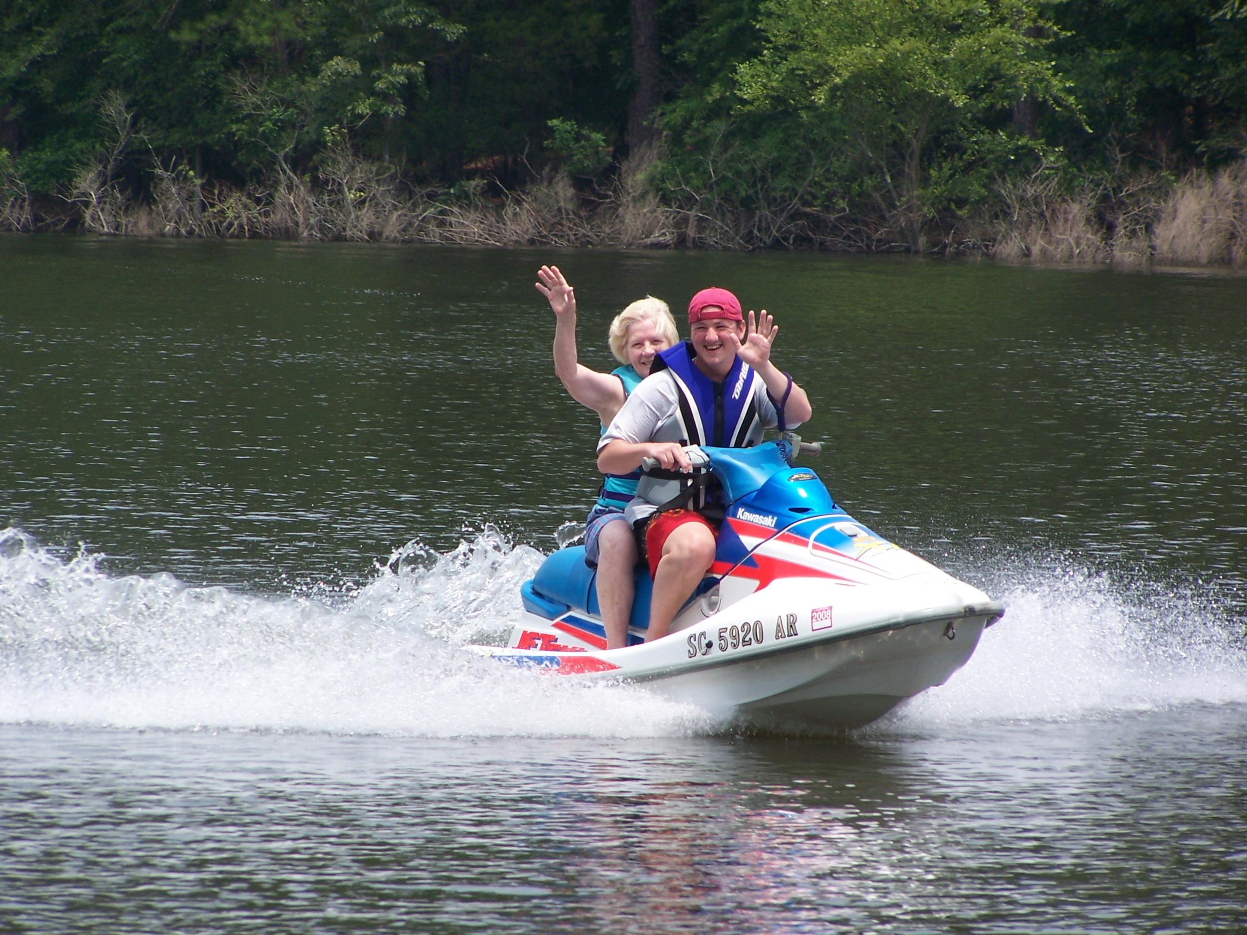 Grandma on my Jet Ski