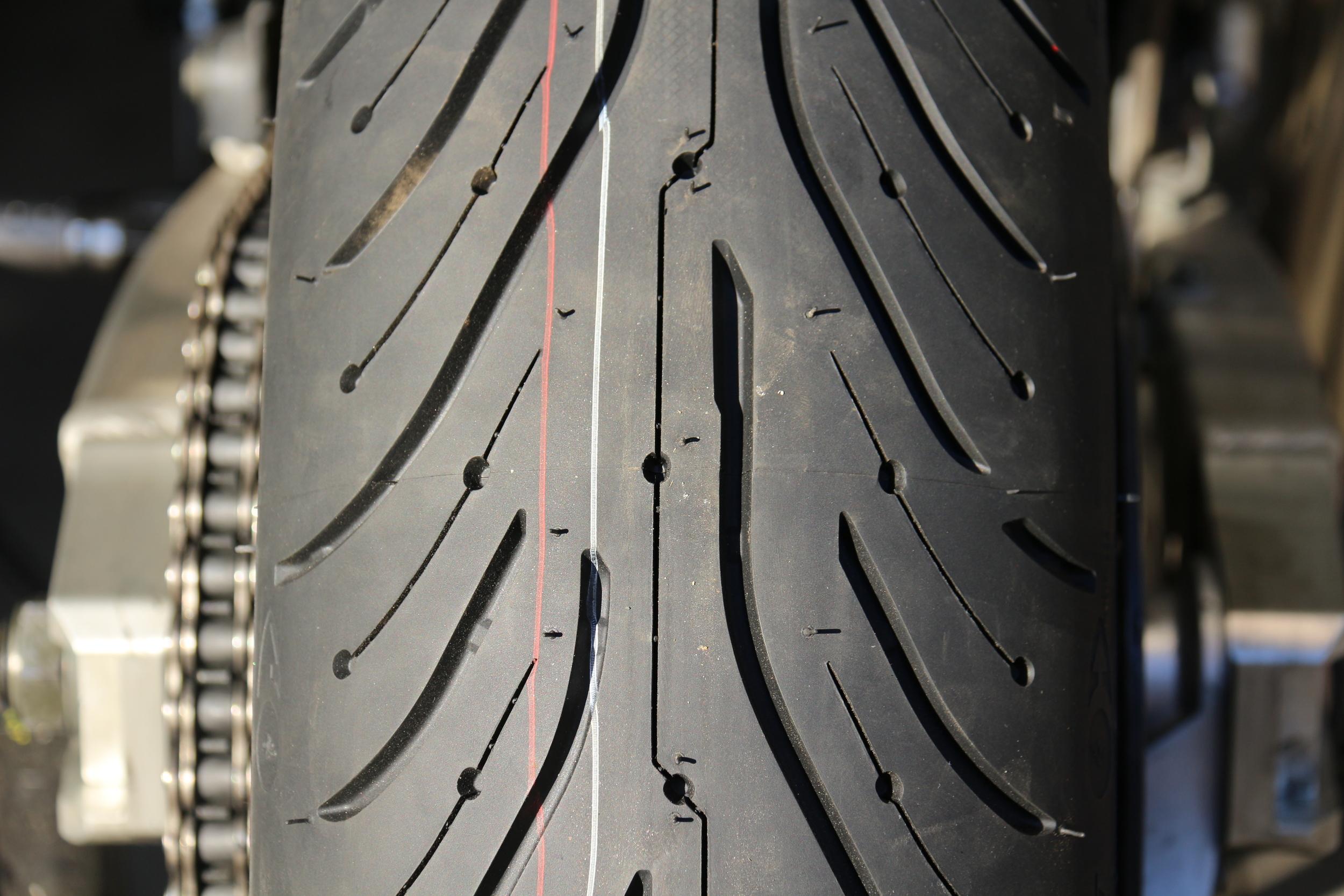 Back Tire Tread pattern