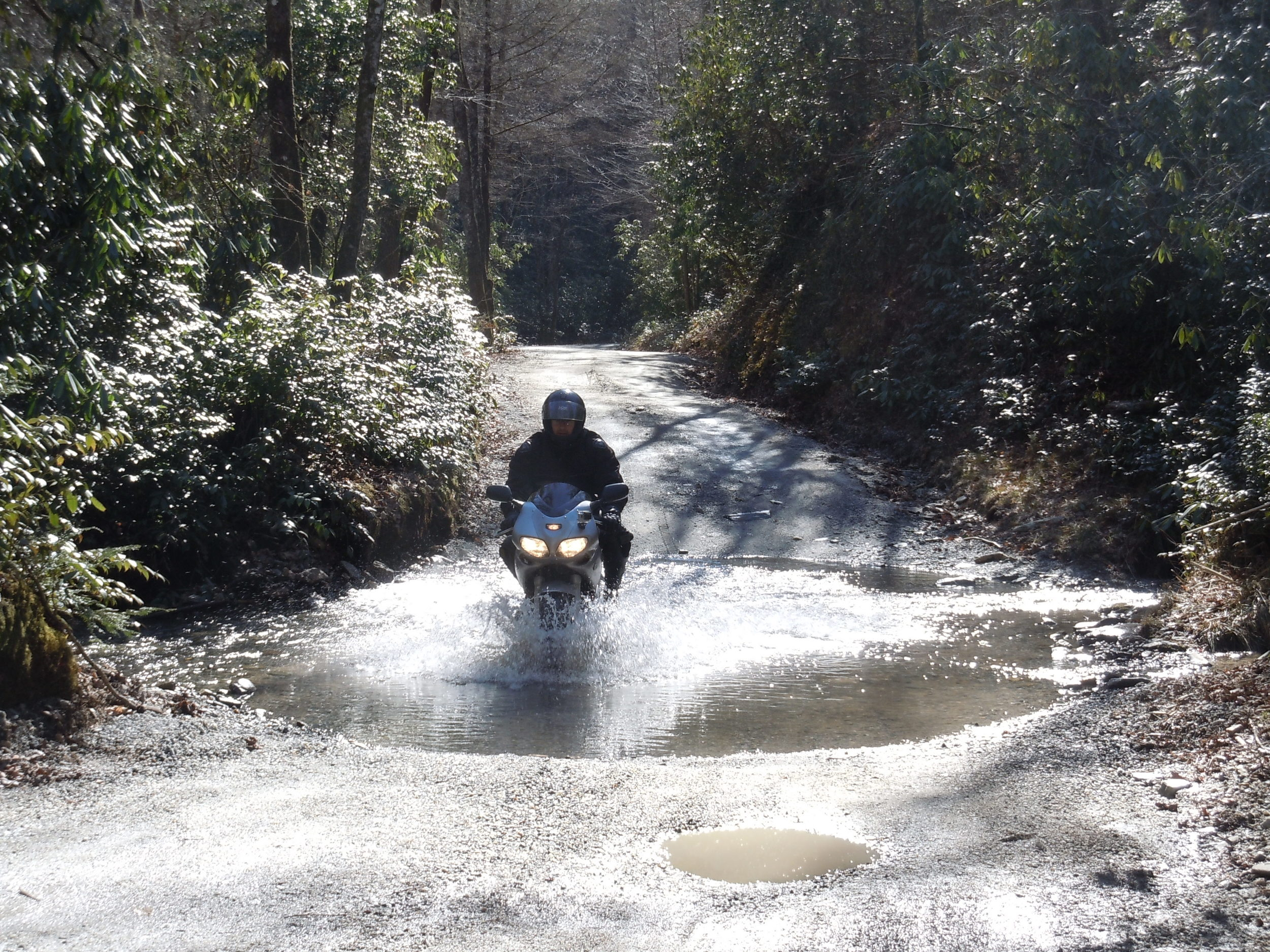 Suzuki SV650 Water Crossing