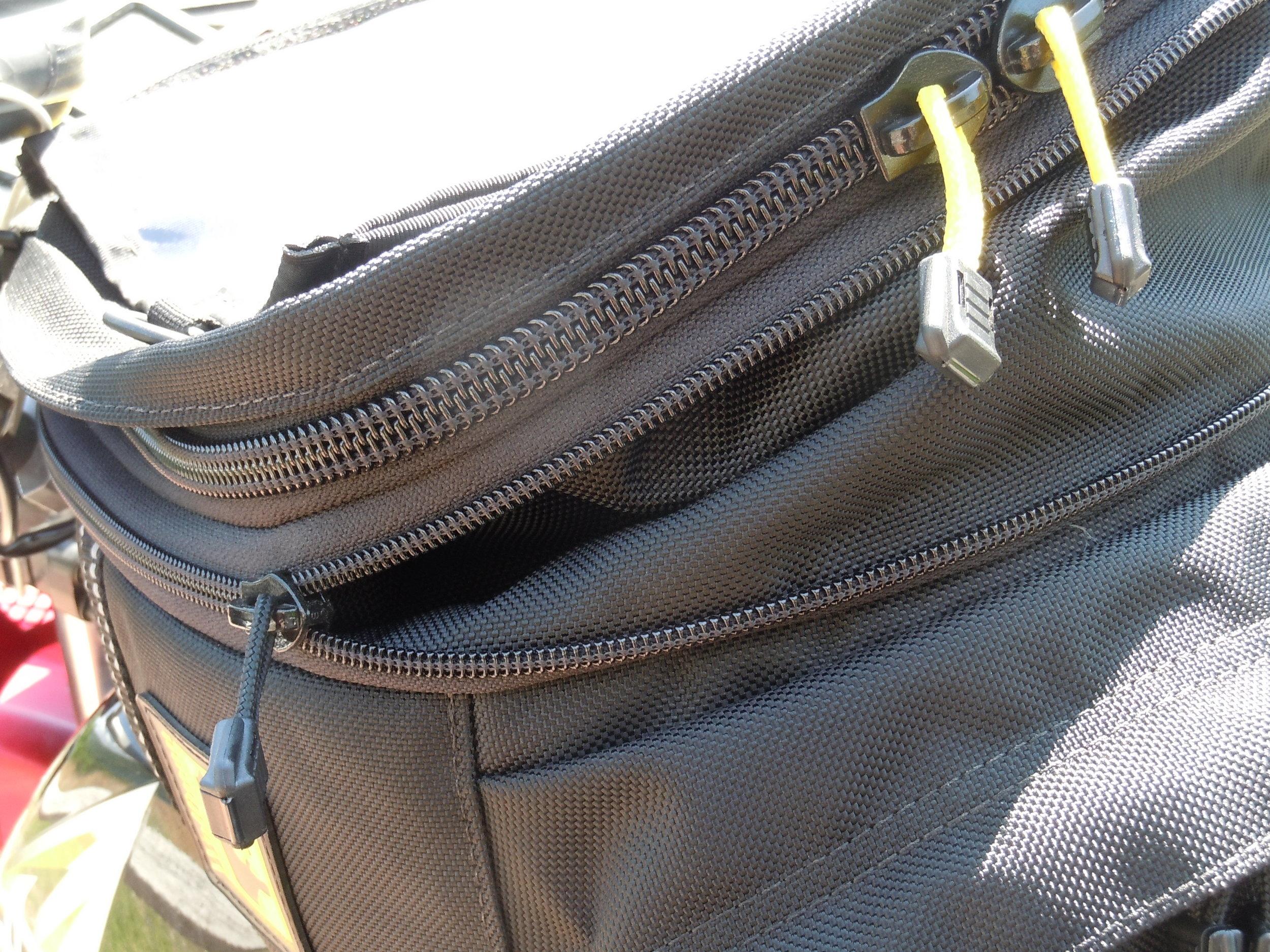 Yellow and Black Zipper Pulls