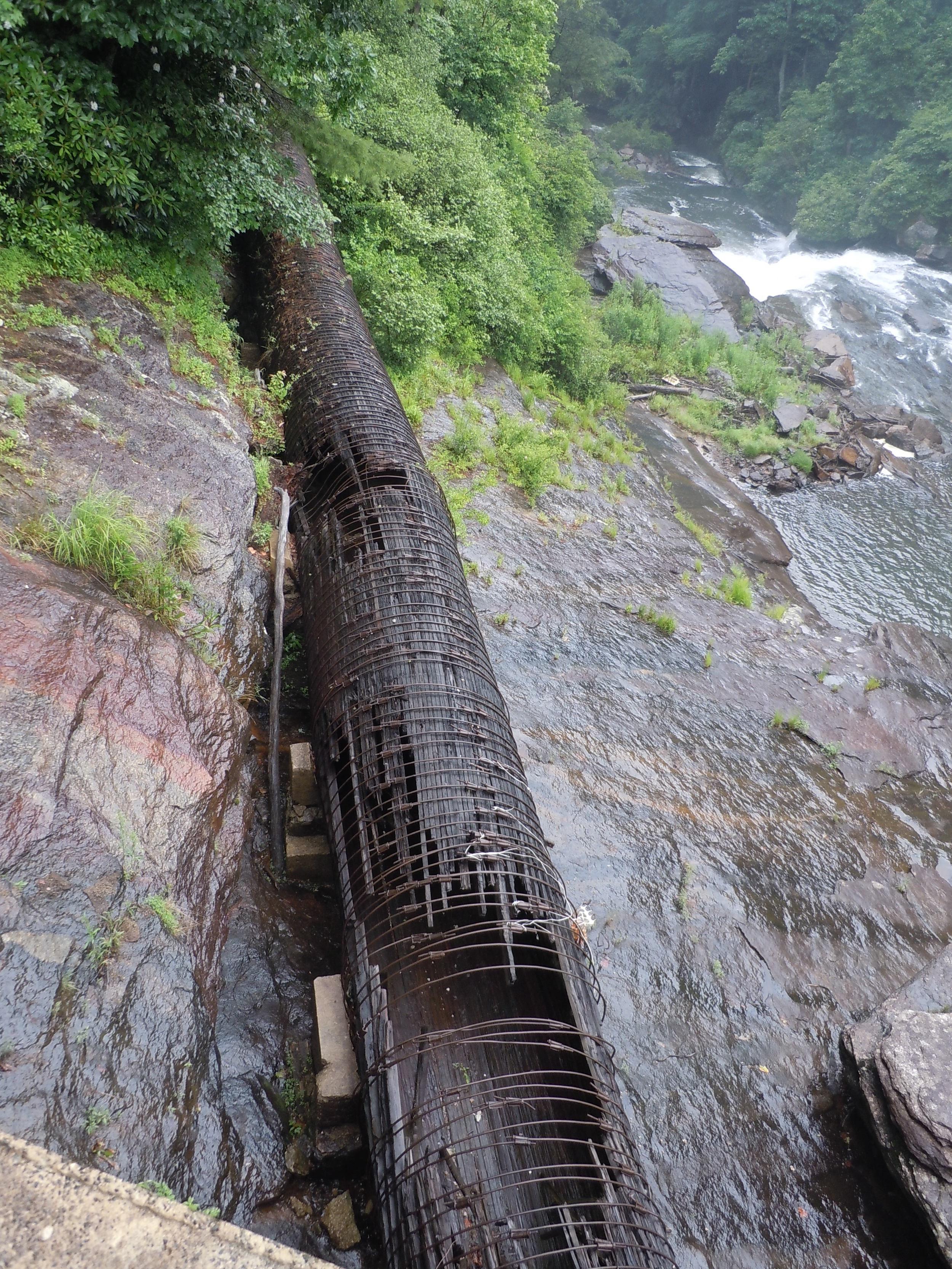 Old Wooden Slat Pipe